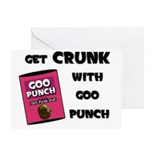 crunk-black Greeting Card