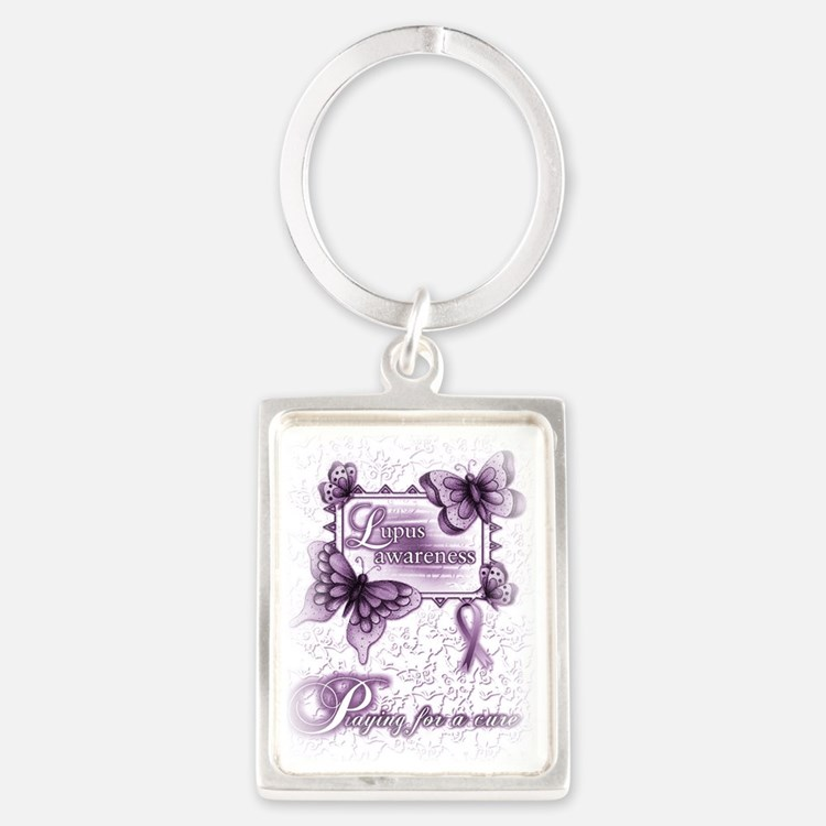 Lupus Awareness, pray for a cure Portrait Keychain