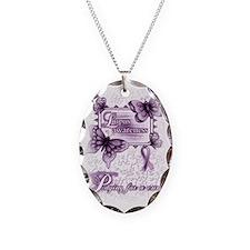 Lupus Awareness, pray for a cu Necklace