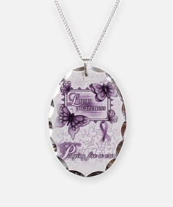Lupus Awareness, pray for a cu Necklace