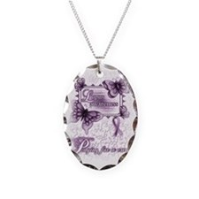 Lupus Awareness, pray for a cu Necklace Oval Charm