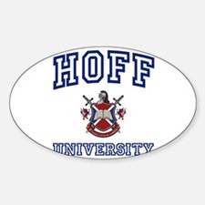 HOFF University Oval Decal