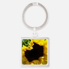 Sunflower pillow Square Keychain
