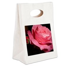 Pink Rose Canvas Lunch Tote
