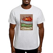 Dragon on a Pillow-Ash Grey T-Shirt