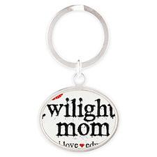Twilight Square Oval Keychain