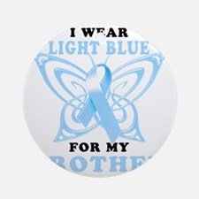 I Wear Light Blue for my Brother Round Ornament