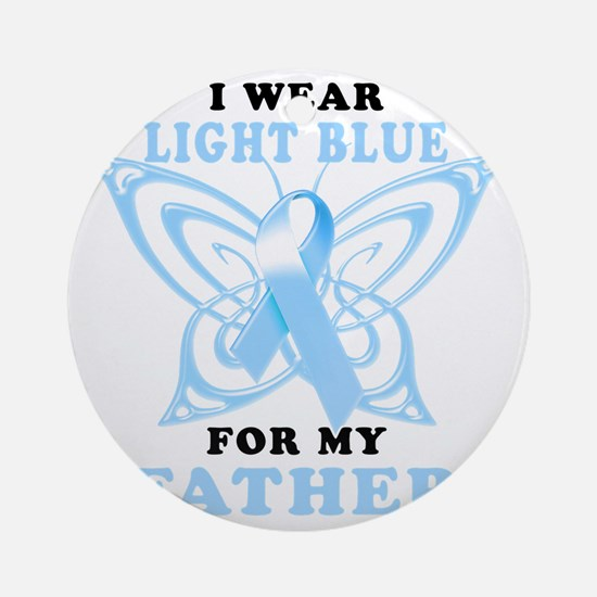 I Wear Light Blue for my Father Round Ornament