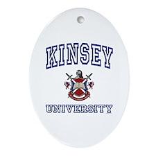 KINSEY University Oval Ornament