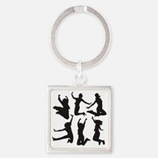dancing girls Square Keychain