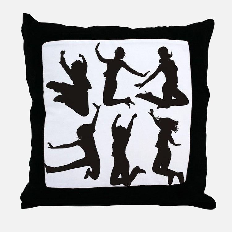 dancing girls Throw Pillow