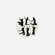 dancing girls Mini Button