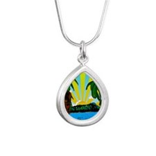 HAWAIIDECO_pcard Silver Teardrop Necklace