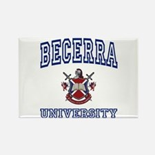 BECERRA University Rectangle Magnet