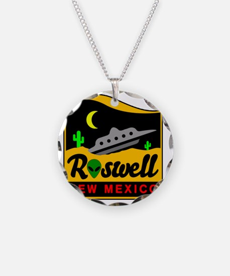 Roswell Necklace Circle Charm