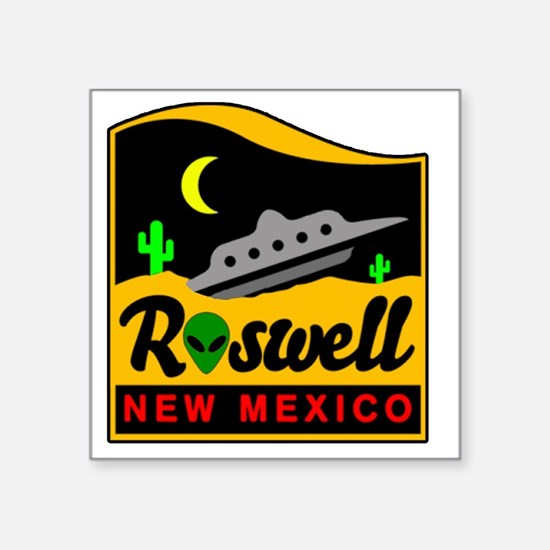 "Roswell Square Sticker 3"" x 3"""