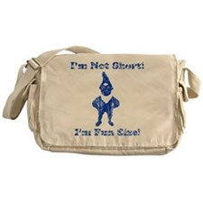 Im Not Short gnome vintage 2 Messenger Bag