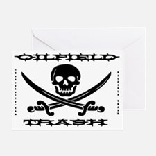 Skull Trash use ee A4 using Greeting Card