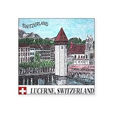 """lucerne apparel Square Sticker 3"""" x 3"""""""