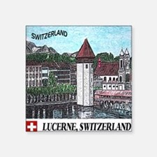 "lucerne apparel Square Sticker 3"" x 3"""