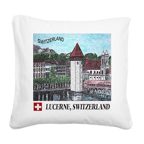 lucerne apparel Square Canvas Pillow