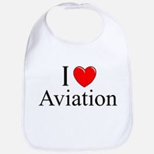 """I Love (Heart) Aviation"" Bib"