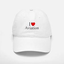 """I Love (Heart) Aviation"" Baseball Baseball Cap"