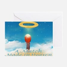 A MATCH MADE IN HEAVEN mouse pad Greeting Card