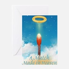 A MATCH MADE IN HEAVEN magnet Greeting Card