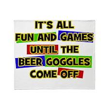 Fun & Games - Beer Goggles Throw Blanket