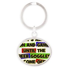 Fun & Games - Beer Goggles Oval Keychain
