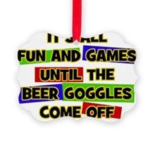 Fun & Games - Beer Goggles Ornament