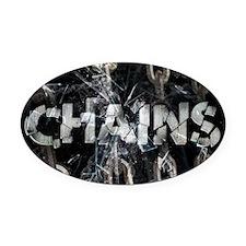 april_chains Oval Car Magnet