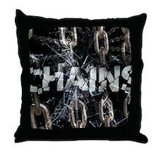 april_chains Throw Pillow