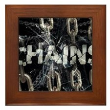 april_chains Framed Tile