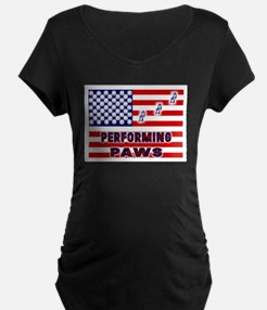 usa performing paws Maternity T-Shirt