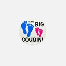 imthebigcousin_bluefeet_pinkfeet Mini Button