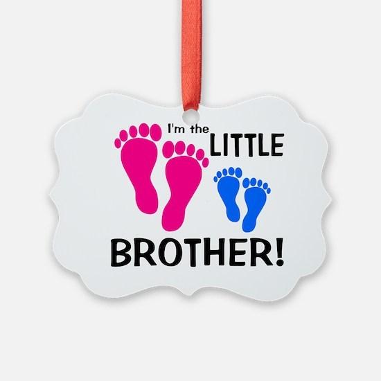 imthelittlebrother_pinkfeet_bluef Ornament