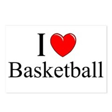 """I Love (Heart) Basketball"" Postcards (Package of"