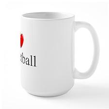 """I Love (Heart) Basketball"" Mug"
