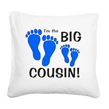 imthebigcousin_bluefeet_bluef Square Canvas Pillow