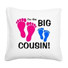 2-imthebigcousin_pinkfeet_blu Square Canvas Pillow