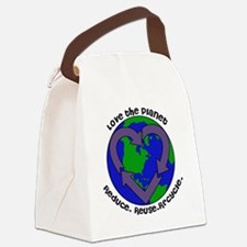 Love the planet Canvas Lunch Bag