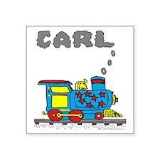 """Carl-train Square Sticker 3"""" x 3"""""""