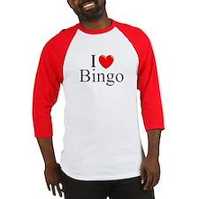 """""""I Love (Heart) Bingo"""" Baseball Jersey"""