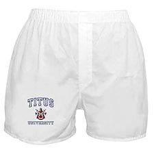 TITUS University Boxer Shorts