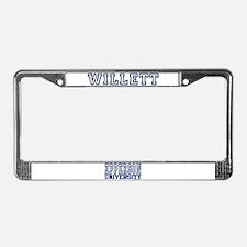WILLETT University License Plate Frame