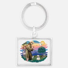 The Saint - Cairn Terrier (#14) Landscape Keychain