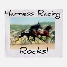 Harness Racing Rocks Throw Blanket