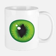 Green Cat Eyes Mug